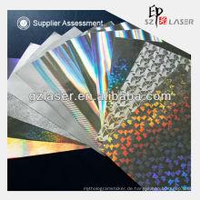 Hologramm Metallisierte Transferpapier für den Druck