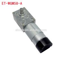 ET-WGM58A-E 20.6rpm 80kg.cm 12V Worm Gear Motor with Encoder