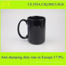 Eco-Friendly Farbe glasiert Keramik Tasse für Kaffee