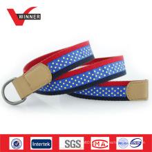 Nueva moda mens lona D anillo cinturones