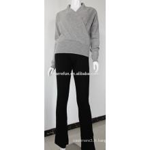 Pantalon en cachemire tricoté pour femme