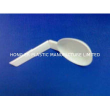 White Disposable Plastic Cutlery Folding Spoons With Sawtooth