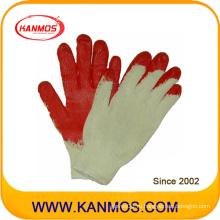 Промышленная безопасность Хлопок трикотажные латексные рукавицы ручной работы (52101)