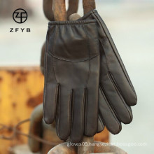 mens fashion real leather driving gloves supplier