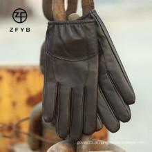Mens moda real luvas de condução de couro fornecedor