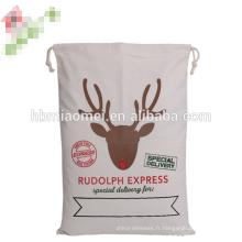 Wholesale de haute qualité sacs de lin populaires de Noël