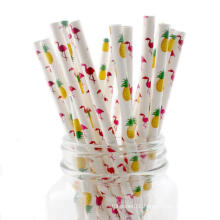 Custom Eco Friendly 100% Food Grade Color Wholesale Paper Drinking Straws Biodegradable