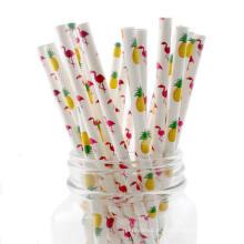 Palhas bebendo de papel por atacado amigáveis feitas sob encomenda do papel da cor do produto comestível de Eco 100% biodegradáveis