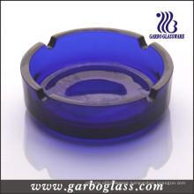 "4"" Round Dark Blue Glass Ashtray (GB2031)"