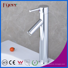 Fyeer Verchromt High Body Abwärts Lange Auslauf Einzigen Handgriff Waschbecken Wasserhahn Waschbecken Wasser Mischbatterie Wasserhahn
