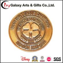 Metal personalizado e tipo ouro moedas de medalha rara lembrança como promoção Gfits