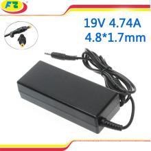 90w адаптер переменного тока ноутбука 19V 4.74a 4.8 * 1.7 мм для разъема зарядного устройства ноутбука hp