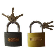 Polished Iron Padlock, Measures 20 to 70mmNew
