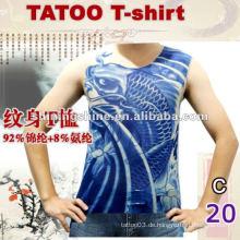 2016 heißes Verkauf sleeveless blaues Tätowierungst-shirt, Tätowierungkleidung