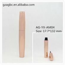 Elegante y vacía aluminio redondo tubo de rimel AG-YX-AM04, empaquetado cosmético de AGPM, colores/insignia de encargo