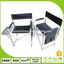 Outdoor leisure aluminum folding chair, director's chair with aluminum, folding aluminum chair