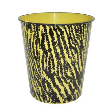 Round Plastic Wood Design Open Top Waste Bin (B06-2020)