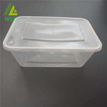 Takeaway microwave transparent pp plastic food box