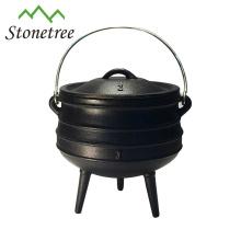 3 pernas de ferro fundido pote Potjie Pot