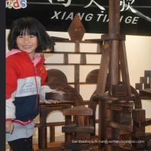 10-1200pcs Jouets de maternelle Bâtiments en bois