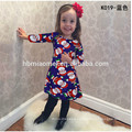 New Model Kids Dress Baby Girl Father Christmas Printed Casual Dress Fashion Baby Girl Christmas Dress