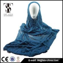 2015 femme bleu viscose élastique hot hijib