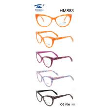 Handmade Custom Vintge Cat Multi Color Acetate Eyeglasses (HM883)