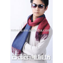 Two-tone pattern men's cashmere scarf