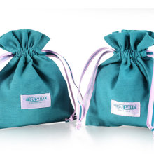 Cheap custom blue-green cotton jute bag