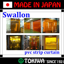 Swallon Co., Ltd. curtain with soundprood, pesticide and cold protection functions. Made in Japan (plastic curtain rings)