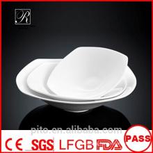 P&T porcelain factory square bowls, porcelain deep plates, square deep plates