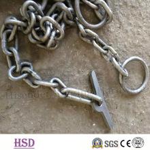 Cadena de transporte / cadena de amarre / cadena de encuadernación con gancho para muelle