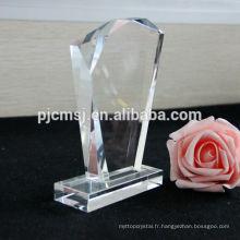 plaque de verre, bloc de cristal blanc cadre photo cristal couleur impression 3D laser graver