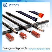 Top Hammer Hex22*108mm Taper Drill Rod for Rock Drilling