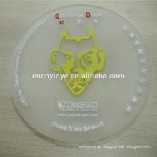 Gute Qualität Prägung Silikon oder PVC Coaster Runde Form Kautschuk Bierdeckel