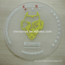 Good Quality Debossed silicone or PVC Coaster round shape rubber beer coaster