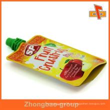 Benutzerdefinierte reasealable Plastiksaftbeutel für Fruchtsaft 90ml