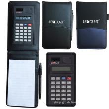 Leder Notizbuch mit Taschenrechner und Memo (LC801)