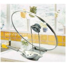 Couvercle en acier inoxydable multifonctionnel et support à la cuillère / couvercle et cuillère (SE2306)