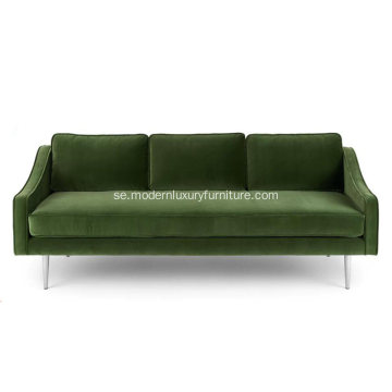 Mirage Grass Green Fabric Sofa
