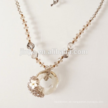 Handgemachte Kristallglas Anhänger Perlen Halskette