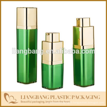plastic airless bottle with square shape