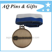 Custom Medallion in Antique Color with 2c Ribbon