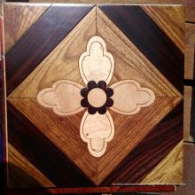 Matériau de décoration mosaïque plancher en bois Art Parquet parquet