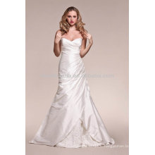 Hot Sale 2014 Sweetheart Backless A-Line Robe de mariage avec robe à nervures NB016