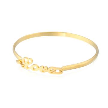 Nova chegada 24kt ouro menina fantasia bangle eu te amo amor infinito pulseiras