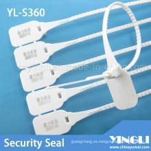 Sello de seguridad de plástico para transporte con impresión láser (YL-S360)