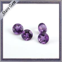 Granos de piedras preciosas semipreciosas naturales violetas redondas