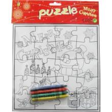 grid coloring me christmas festivel paper puzzle