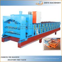 Beliebte Typ Double Layer Metall Dachwandpaneele Cold Roll Forming Machine / Doppelte Blatt Kaltumformung Linie